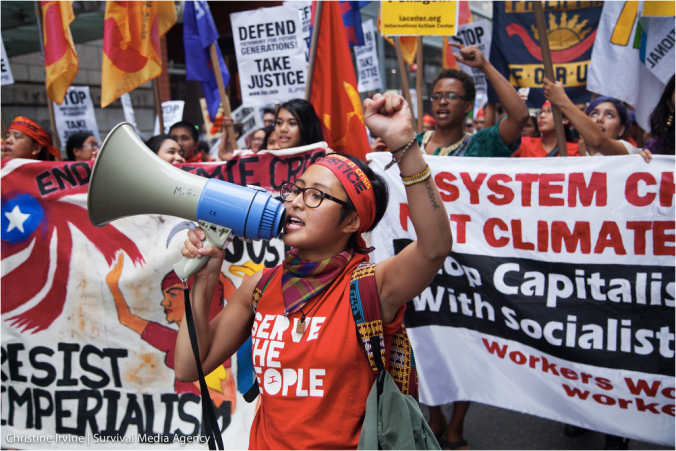 At People's Climate March in New York City, September 2014