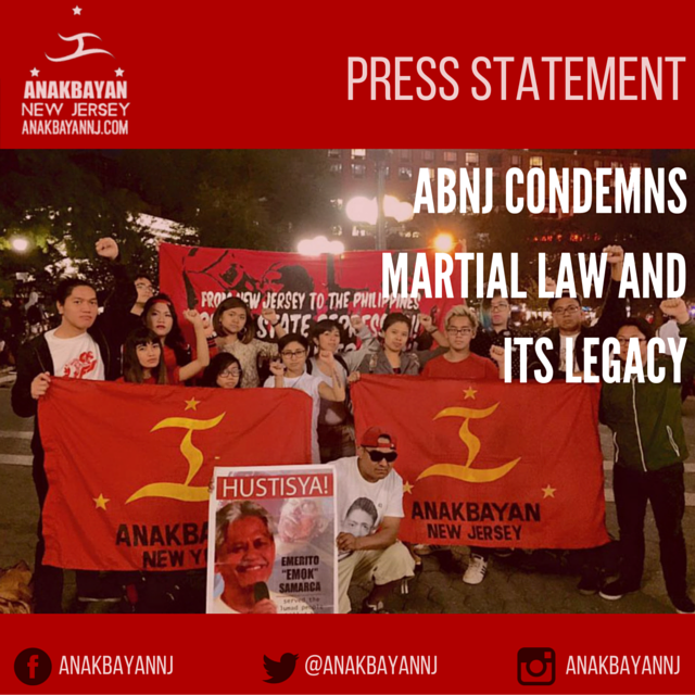 ABNJ CONDEMNS MARTIAL LAW AND ITS LEGACY