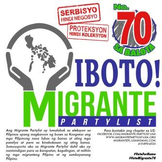 Social media image for Migrante Partylist - Filipino version